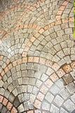Configuration de ruelle de brique images libres de droits