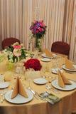 Configuration de salle de bal de mariage photos stock