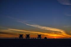 Configuration de Sun à Venise Photo libre de droits