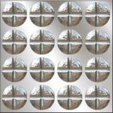Configuration de têtes de vis de Philips Images libres de droits