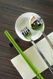 Configuration de table de baguettes Photos stock