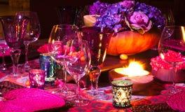 Configuration de table de dîner Photographie stock