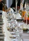 Configuration de table de mariage Image stock