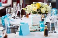Configuration de table de mariage Photographie stock