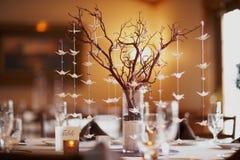 Configuration de table de mariage Photo libre de droits