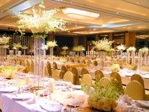 Configuration de table de mariage Photos stock