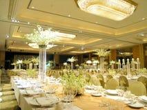 Configuration de table de mariage Photo stock