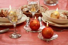 Configuration de table de Noël Images stock