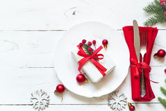 Configuration de table de Noël Photos libres de droits