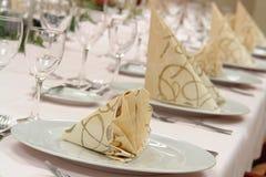 Configuration de table de restaurant Photographie stock