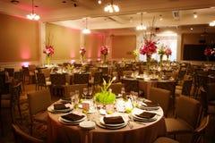 Configuration de Tableau à une réception de mariage de luxe Photographie stock