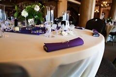 Configuration de Tableau de mariage Photographie stock