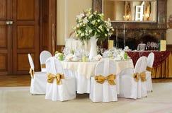 Configuration de Tableau de mariage Photo stock