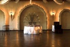 Configuration de Tableau de mariage photographie stock libre de droits
