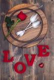 Configuration de Tableau pour le jour de valentines Photo libre de droits