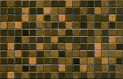 Configuration de tuile de mosaïque de Brown Photos stock
