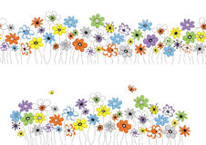 Configuration de vecteur avec des fleurs Photo libre de droits