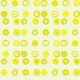 Configuration de vecteur avec les points colorés par limette Image libre de droits