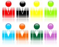 Configuration de vecteur de personne d'affaires Images stock