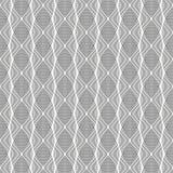 Configuration de vecteur la ligne onduleuse ou les courbes linéaires recouvrent chacun, répétant pour être forme ovale dirigée illustration libre de droits