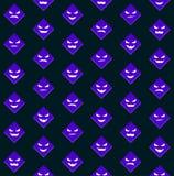 Configuration de Veille de la toussaint avec les visages effrayants violets Photo libre de droits