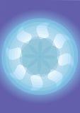 Configuration de ventilateur avec le fond bleu Photographie stock libre de droits