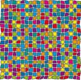 Configuration de verre coloré Image libre de droits