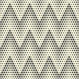 Configuration de zigzag sans joint Dots Background monochrome abstrait Le VE Photo libre de droits