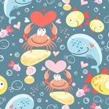 Configuration des animaux marins homosexuels illustration libre de droits