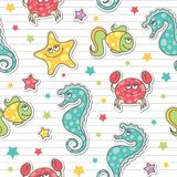 Configuration des créatures de mer Image stock