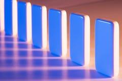 Configuration des dominos Photo libre de droits