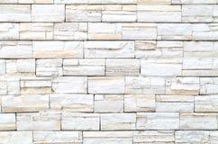 Configuration du mur de briques en pierre blanc photographie stock libre de droits