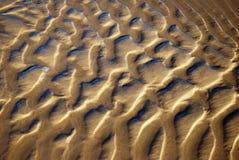 configuration Eau-lissée de sable Photos libres de droits