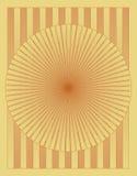 Configuration en bois de cercle de parquet Photographie stock