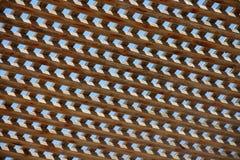 Configuration en bois de parasol Images stock