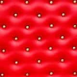 Configuration en cuir rouge avec des molettes images libres de droits