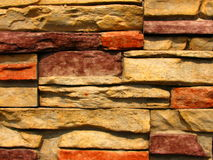 Configuration en pierre 2 de mur de briques Images libres de droits