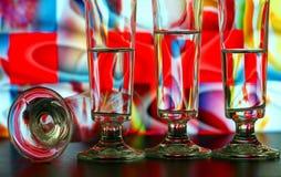 Configuration en verre de Champagne photos libres de droits