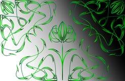 Configuration et coins des fleurs d'imagination Photos libres de droits