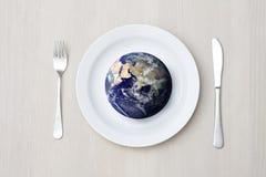 Configuration et globe de Tableau Photo stock