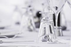 Configuration fine de table de salle à manger Images libres de droits