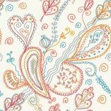 Configuration fleurie sans joint de Paisley Photo stock