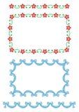 Configuration-fleurs sans joint de cadre, bande Images stock