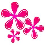 Configuration florale 2 de rétro fleurs illustration libre de droits