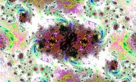 Configuration florale abstraite Bourgeons et spirales illustration libre de droits