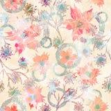 Configuration florale abstraite sans joint Fleurs, feuilles sur un fond clair Photographie stock