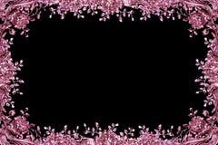 Configuration florale argentée antique comme trame photos stock