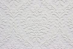 Configuration florale blanche de cru, papier peint Photographie stock