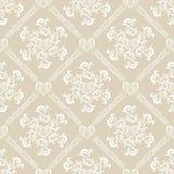 Configuration florale blanche sans joint Photographie stock