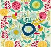 Configuration florale décorative illustration libre de droits